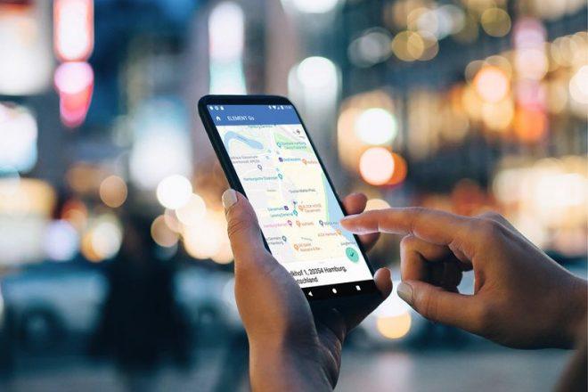 Smartphone mit Element App