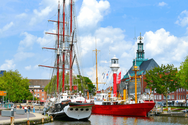 Bild des Hafens von Emden